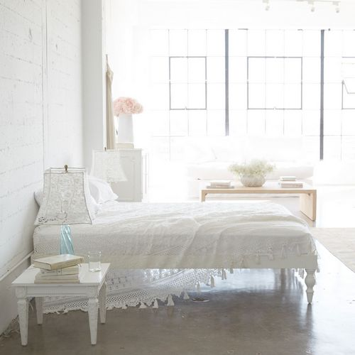 Rachel Ashwell Cluny Lace White Coverlet