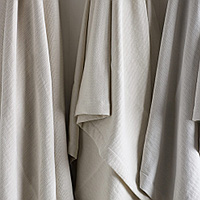 SDH Emma Bedding - three color yarn dyed jacquard - 45% Wool/40% Egyptian Cotton/15% Linen.