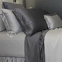 The elegantly jacquard of SDH's Legna Rimini is woven into yet another decadently soft bedding collection.