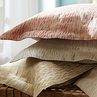 This exquisite SDH bedding is 2 - Color yarn dyed jacquard. Certified - OekoTex. Woven in Italy.