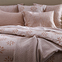 This exquisite SDH bedding is 2 - Color yarn dyed jacquard.