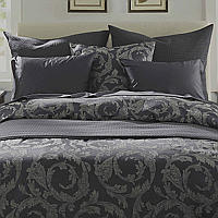 This exquisite jacquard woven in the perfect blend of cotton and linen provides lasting comfort and timeless beauty.