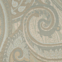 Six colors swirl together to create this intricate classic paisley with a modern twist.