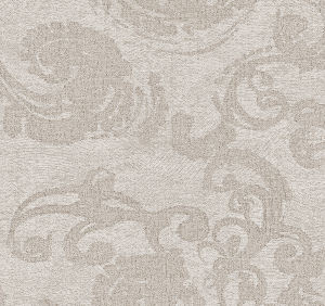 Svad Dondi Empire Bedding fabric closeup in Taupe color.