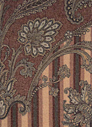Svad Dondi Goa Throw fabric closeup in Bronze color.
