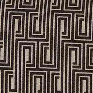 Svad Dondi Metropole Printed Bedding fabric closeup in Licorice color.