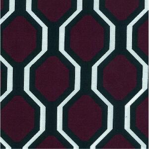 Svad Dondi Milano Printed Bedding fabric closeup in Burgundy color.