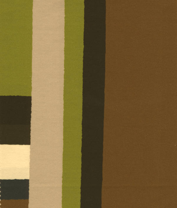 Svad Dondi Mondrian Bedding fabric closeup in Tobacco color.