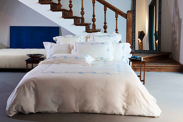 Signoria Firenze Hellas bedding - Inspired by Greek frets.