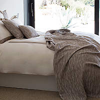 Simple yet enchanting, the Mondello blanket and deco sham is a perfect bed complement.