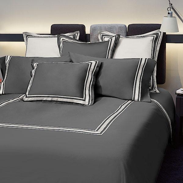 Signoria Firenze Tivoli Bedding - Lead Grey/Pearl.