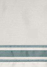Signoria Firenze Tivoli Bedding Fabric Sample - Pearl/Wilton Blue.