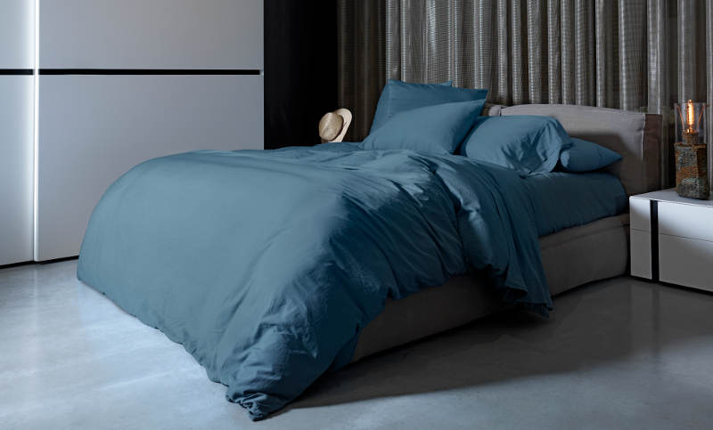 Signoria Firenze Viola Duvet & Sheet Set - Antique Blue