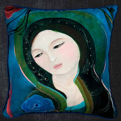 Simple Syrup Decorative Pillows from Artist Danielle Duer.