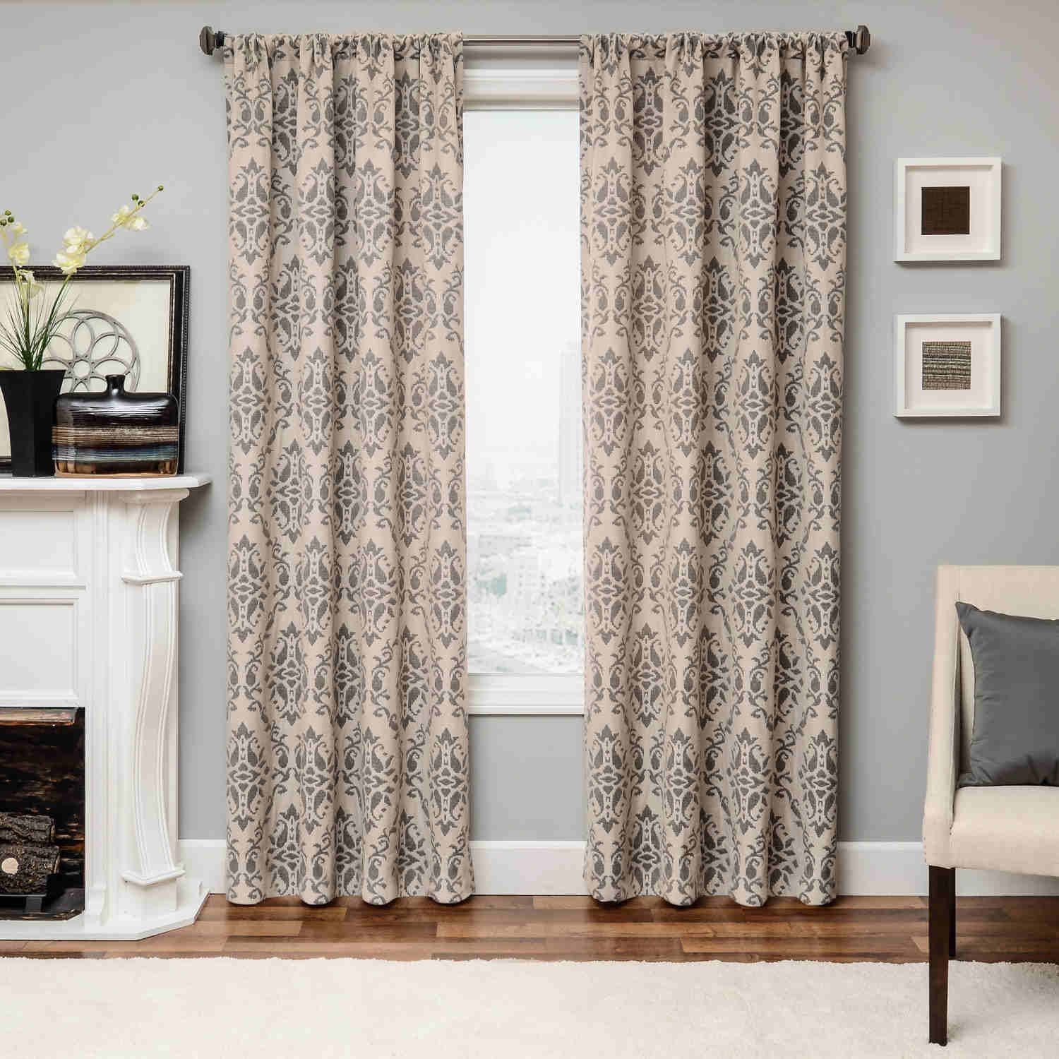 Softline Home Fashions Athens Damask Drapery Panels are available in 6  color combinations.