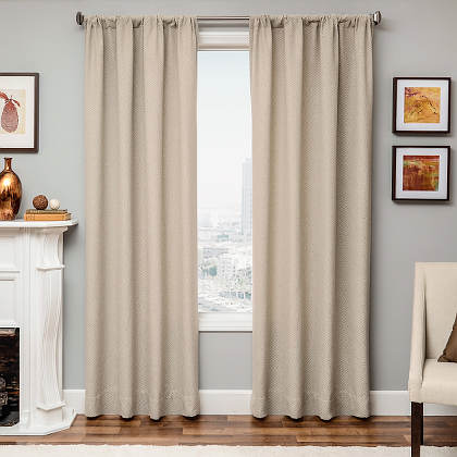 Softline Home Fashions Athens Diamond Drapery Panels are available in 6 color combinations.
