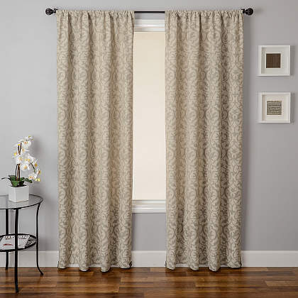Softline Home Fashions Athens Heritage Drapery Panels are available in 6 color combinations.