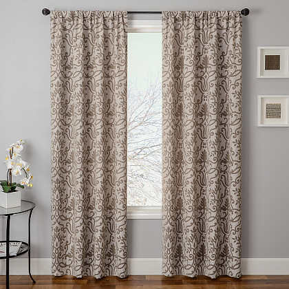 Softline Home Fashions Athens Royale Drapery Panels are available in 6 color combinations.
