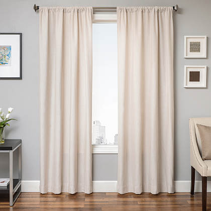 Softline Home Fashions Athens Solid Drapery Panels are available in 6 color combinations.