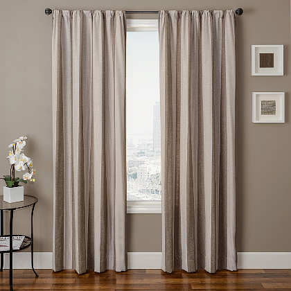 Softline Home Fashions Athens Stripe Drapery Panels are available in 6 color combinations.