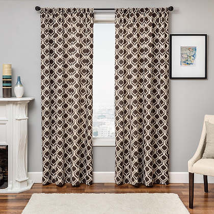 Softline Home Fashions Batala Drapery Panels are available in 5 color combinations.