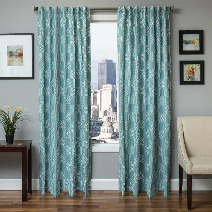Softline Bergarmo Drapery Panels is available in 4 color combinations.