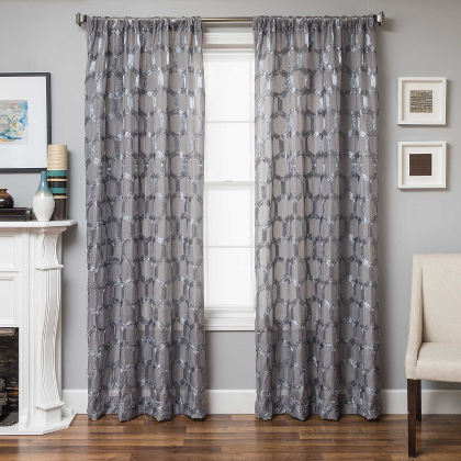 Softline Bolzano Drapery Panels completes your decorated home with an oval overlay design.