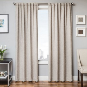 Softline Home Fashions Breda Drapery Panels in Linen color.