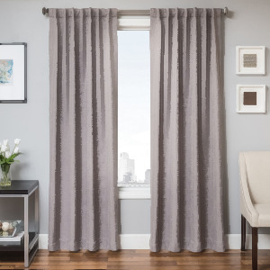 Softline Home Fashions Breda Drapery Panels in Platinum color.