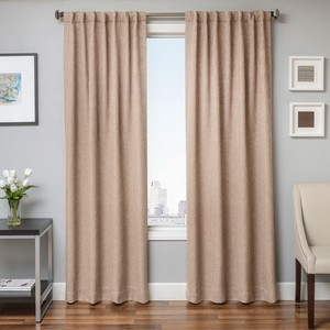 Softline Home Fashions Breda Drapery Panels in Sand color.
