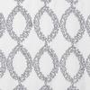 Softline Home Fashions Cagliari Drapery Panels Swatch in Silver White color.