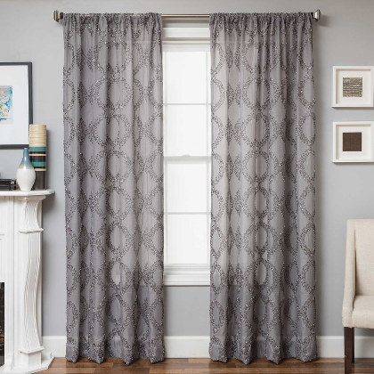 Softline Cagliari Drapery Panels completes your decorated home with an oval overlay design.
