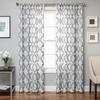 Softline Home Fashions Cagliari Drapery Panels in Silver White color.