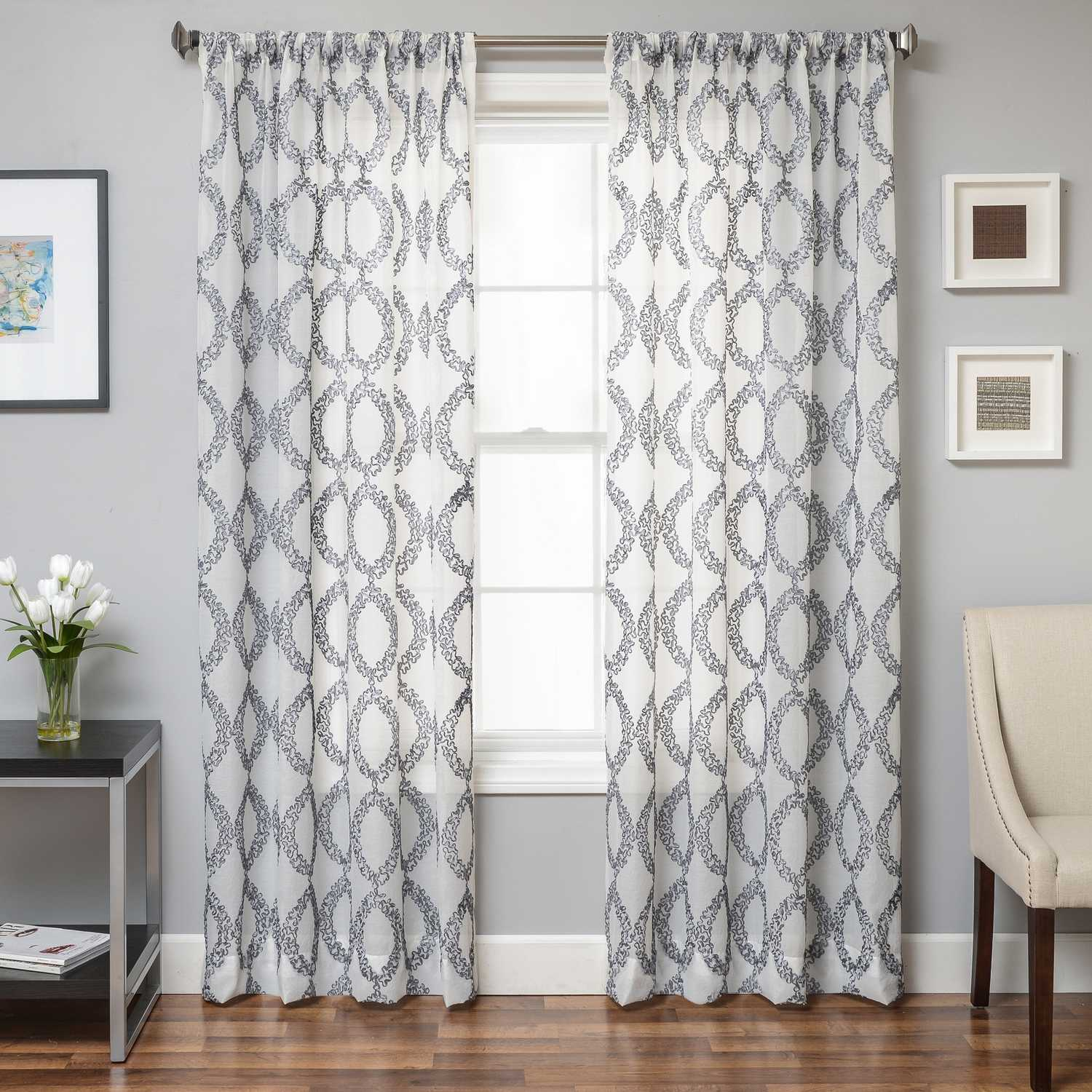 Softline Home Fashions Cagliari Drapery Panels Color White Swatch Available