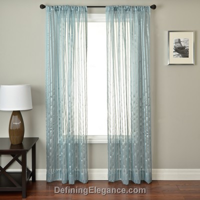 Softline Calva Sheer Drapery Panels are available in 11 color combinations.