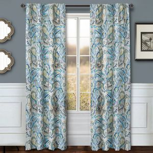 Softline Home Fashions Drapery Cape May Panel -  Azure