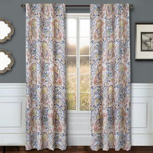 Softline Home Fashions Drapery Cape May Panel -  Periwinkle