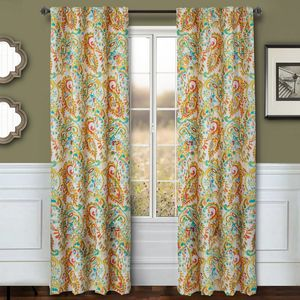 Softline Home Fashions Drapery Cape May Panel -  Persimmon