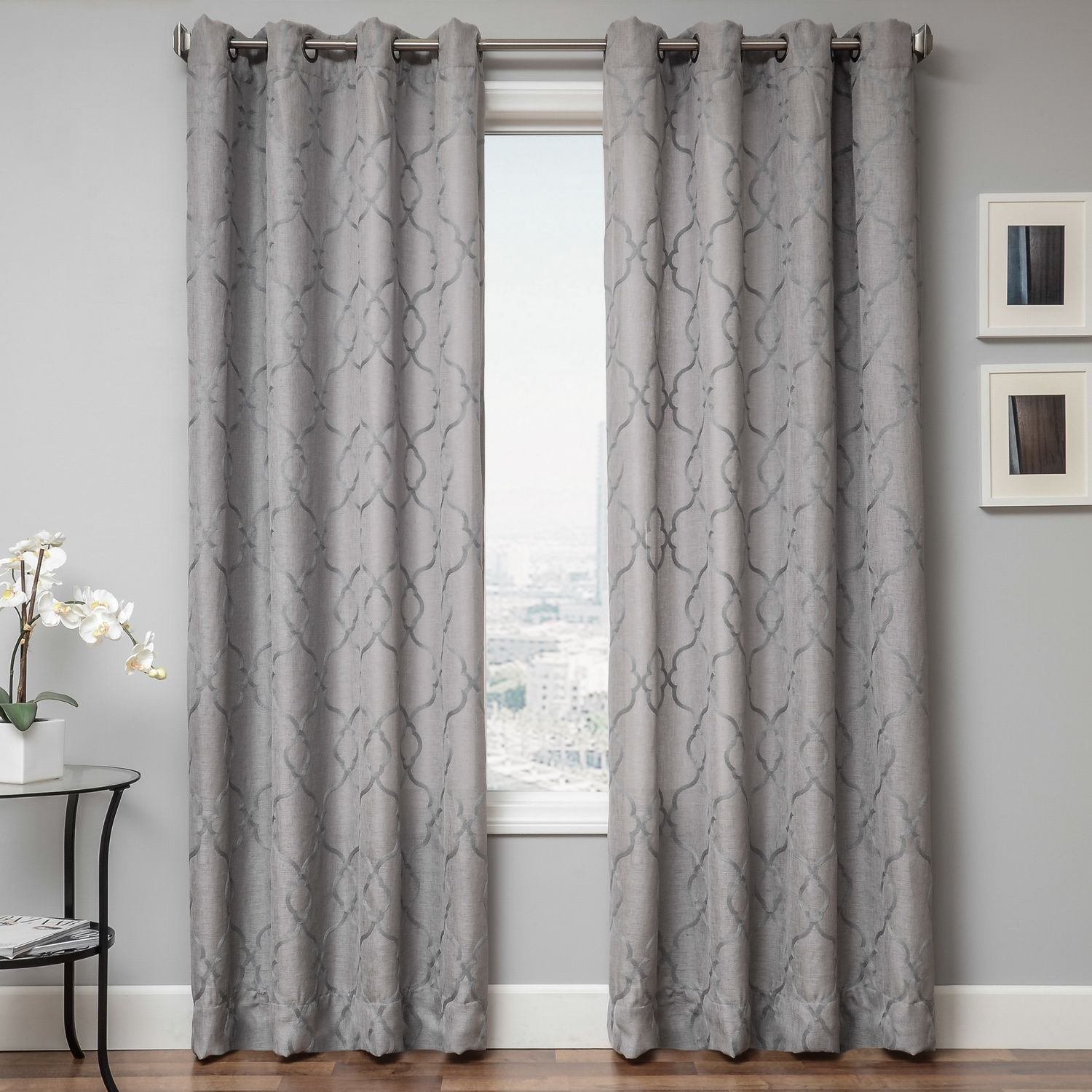 room linen from www gold of infinity faux curtain embroidey curtains living leaf patterned fresh a pair sheer scroll informative