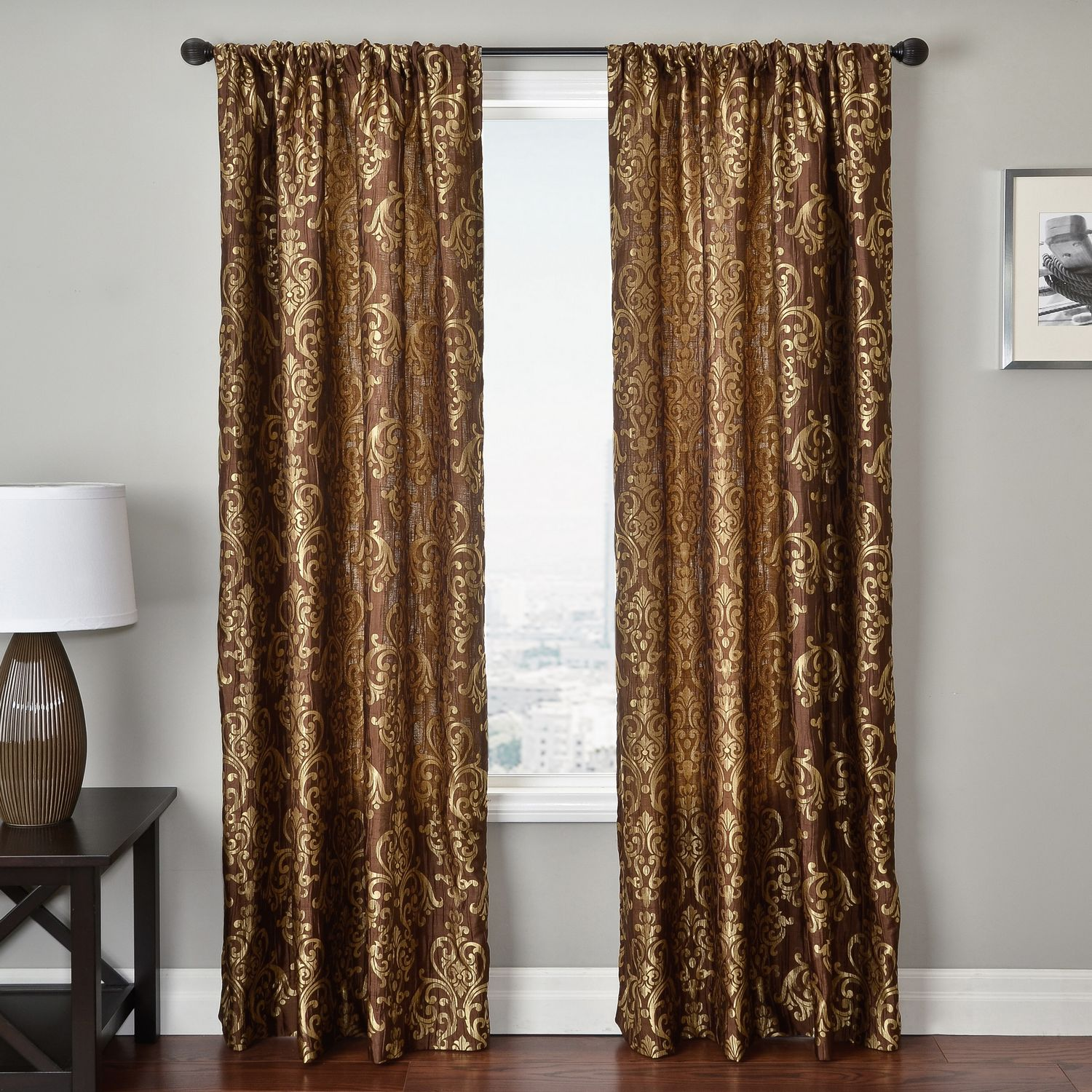 valance curtain rod x homes gold ip gardens and com better walmart trellis pocket panels curtains