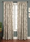 Softline Home Fashions Casablanca Drapery Panels in Shell color.
