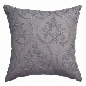 Softline Home Fashions Chia  Decorative Pillow in Grey Blue color.