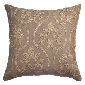Softline Home Fashions Chia  Decorative Pillow in Taupe Gold color.