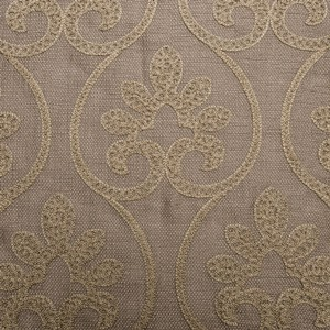 Softline Home Fashions Chia Drapery Panels Swatch in Taupe Gold color.