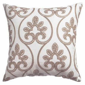 Softline Home Fashions Chia  Decorative Pillow in White Gold color.