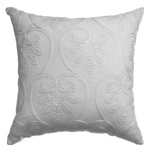 Softline Home Fashions Chia  Decorative Pillow in White White color.