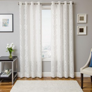 Softline Home Fashions Chia Drapery Panels in White White color.
