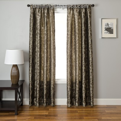 Softline Colma Scroll Drapery Panels are available in 5 color combinations.