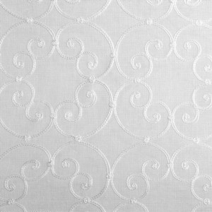 Softline Home Fashions Corby Drapery Panels Swatch in White color.