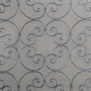 Softline Home Fashions Corby Drapery Panels Swatch in Slate color.